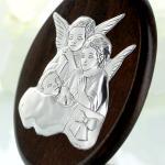 jaki prezent dla dziewczynki na chrzest - srebrny obrazek