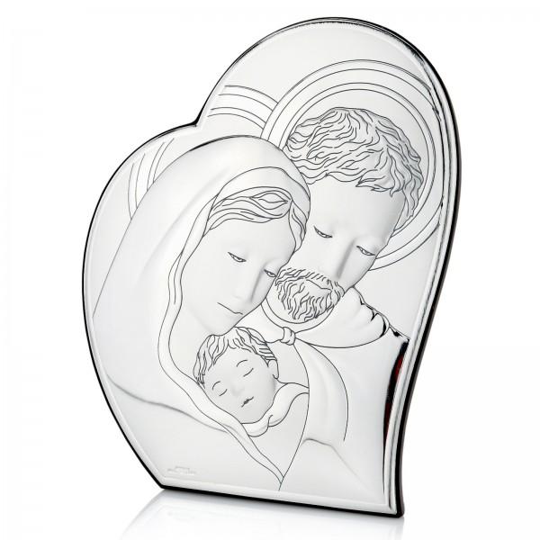obrazek srebrny z grawerem święta rodzina
