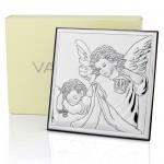 srebrny obrazek anioł stróż na wyjątkowy prezent