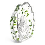 Kryształowa skałka prezent z okazji chrztu