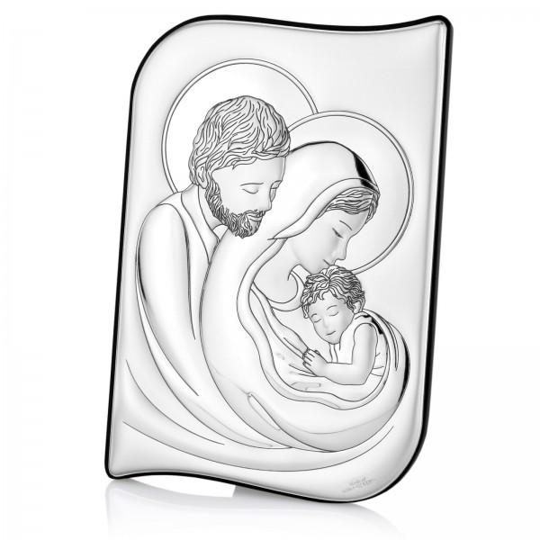 obraz świętej rodziny posrebrzany na prezent