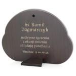srebrny obrazek na prezent dla księdza