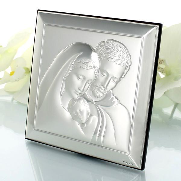 srebrny obrazek na prezent z grawerem