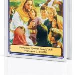 biblia z dedykacją na prezent na komunię